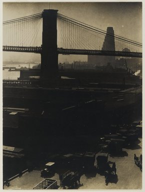 Consuelo Kanaga (American, 1894-1978). [Untitled] (Pier 27), 1922-1924. Gelatin silver photograph, 9 3/4 x 7 1/4 in. (24.8 x 18.4 cm). Brooklyn Museum, Gift of Wallace B. Putnam from the Estate of Consuelo Kanaga, 82.65.420