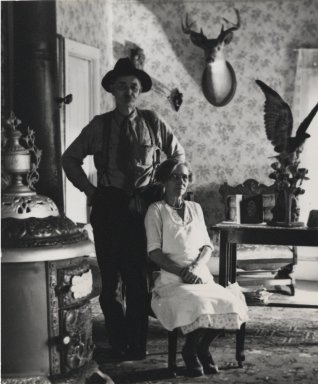 Consuelo Kanaga (American, 1894-1978). [Untitled] (Mr. and Mrs. Stanley). Gelatin silver photograph, Image: 4 5/8 x 3 7/8 in. (11.7 x 9.8 cm). Brooklyn Museum, Gift of Wallace B. Putnam from the Estate of Consuelo Kanaga, 82.65.430