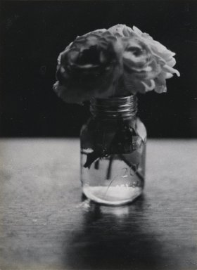 Consuelo Kanaga (American, 1894-1978). [Untitled] (Flowers in Water). Gelatin silver photograph, 4 1/2 x 3 1/4 in. (11.4 x 8.3 cm). Brooklyn Museum, Gift of Wallace B. Putnam from the Estate of Consuelo Kanaga, 82.65.435