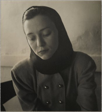 Consuelo Kanaga (American, 1894-1978). [Untitled] (Woman in a Hood). Gelatin silver photograph, 4 1/4 x 4 in. (10.8 x 10.2 cm). Brooklyn Museum, Gift of Wallace B. Putnam from the Estate of Consuelo Kanaga, 82.65.436
