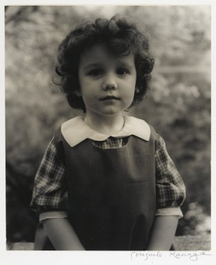 Consuelo Kanaga (American, 1894-1978). [Untitled] (Portrait of a Girl). Gelatin silver photograph, image: 9 1/4 x 7 3/4 in. (23.5 x 19.7 cm). Brooklyn Museum, Gift of Wallace B. Putnam from the Estate of Consuelo Kanaga, 82.65.442