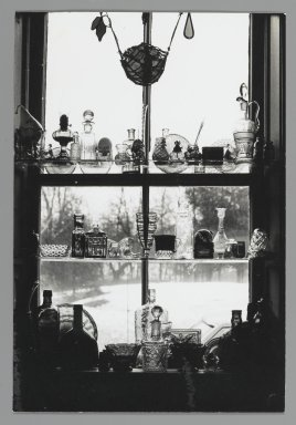 Consuelo Kanaga (American, 1894-1978). [Untitled] (Bottles in Window at the Icehouse), after 1940. Gelatin silver photograph, 9 1/4 x 6 1/4 in. (23.5 x 15.9 cm). Brooklyn Museum, Gift of Wallace B. Putnam from the Estate of Consuelo Kanaga, 82.65.445