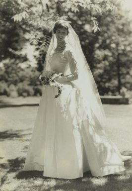 Consuelo Kanaga (American, 1894-1978). [Untitled] (The Bride). Gelatin silver photograph, 10 1/2 x 7 1/4 in. (26.7 x 18.4 cm). Brooklyn Museum, Gift of Wallace B. Putnam from the Estate of Consuelo Kanaga, 82.65.46