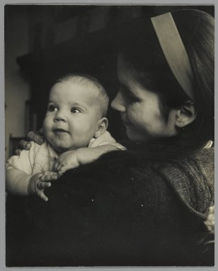 Consuelo Kanaga (American, 1894-1978). [Untitled] (Young Mother with Baby). Gelatin silver photograph, 9 7/8 x 7 7/8 in. (25.1 x 20 cm). Brooklyn Museum, Gift of Wallace B. Putnam from the Estate of Consuelo Kanaga, 82.65.49
