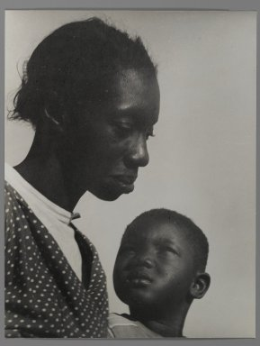 Consuelo Kanaga (American, 1894-1978). [Untitled] (Mother and Son), 1950. Gelatin silver photograph, 10 1/2 x 8 1/8 in. (26.7 x 20.6 cm). Brooklyn Museum, Gift of Wallace B. Putnam from the Estate of Consuelo Kanaga, 82.65.4