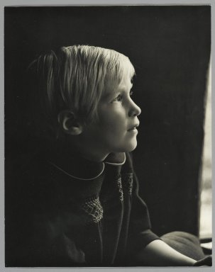Consuelo Kanaga (American, 1894-1978). [Untitled] (Young Girl). Gelatin silver photograph, 9 1/2 x 7 1/2 in. (24.1 x 19.1 cm). Brooklyn Museum, Gift of Wallace B. Putnam from the Estate of Consuelo Kanaga, 82.65.51