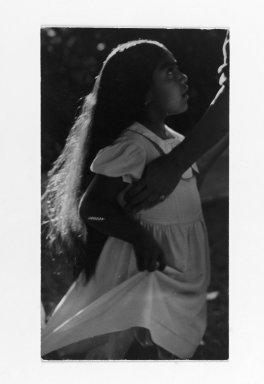 Consuelo Kanaga (American, 1894-1978). [Untitled] (Indian Girl). Gelatin silver photograph, 5 5/8 x 3 1/8 in. (14.3 x 7.9 cm). Brooklyn Museum, Gift of Wallace B. Putnam from the Estate of Consuelo Kanaga, 82.65.61