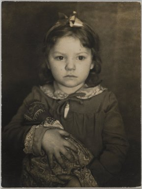 Consuelo Kanaga (American, 1894-1978). Portrait of a Child. Toned gelatin silver photograph, 4 x 3 in. (10.2 x 7.6 cm). Brooklyn Museum, Gift of Wallace B. Putnam from the Estate of Consuelo Kanaga, 82.65.77