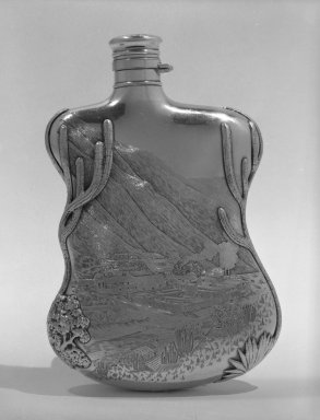 Gorham Manufacturing Company (founded 1865). Flask, ca. 1888. Silver, 7 3/4 x 5 x 1 1/2 in. (19.7 x 12.7 x 3.8 cm). Brooklyn Museum, 82.70. Creative Commons-BY