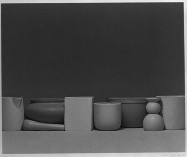 Richard Davis (American, born 1947). Ceramics II, 1081. Serigraph Brooklyn Museum, Caroline A.L. Pratt Fund, 82.99