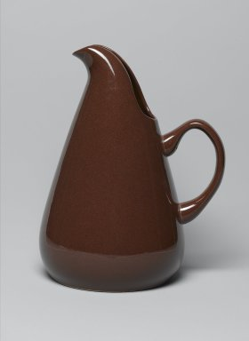 Russel Wright (American, 1904-1976). Pitcher, American Modern Pattern, Designed 1937; manufactured 1939-1959. Glazed earthenware, 10 5/8 x 6 7/8 x 8 1/4 in. (27 x 17.5 x 21 cm). Brooklyn Museum, Gift of Paul F. Walter, 83.108.44. Creative Commons-BY
