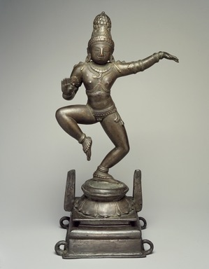 Dancing Krishna, ca. 11th century. Bronze, 15 3/4 x 6 1/2 in. Brooklyn Museum, Gift of Georgia and Michael de Havenon, 83.113. Creative Commons-BY