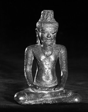 A Buddhist Saint, 8th-9th Century. Bronze, 5 x 2 1/4 in. (12.7 x 5.7 cm). Brooklyn Museum, Gift of the Charles Bloom Foundation, 83.120. Creative Commons-BY