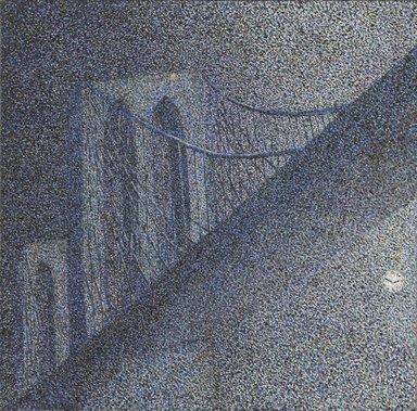 Robert Kobayashi (American, 1925-2015). The Brooklyn Bridge, 1982. Oil on canvas, 18 1/2 x 18 5/8 in. (47 x 47.3 cm). Brooklyn Museum, Gift of Marilynn and Ivan C. Karp, 83.125. © Robert Kobayashi