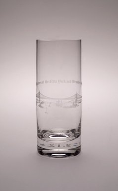Highball Glass (Brooklyn Bridge), 1983. Crystal, 6 1/4 x 2 3/8 x 2 3/8 in. (15.9 x 6 x 6 cm). Brooklyn Museum, Ella C. Woodward Memorial Fund, 83.126.2. Creative Commons-BY