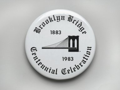 Unknown. Button, 1983. Metal, 1 in. (2.5 cm). Brooklyn Museum, Ella C. Woodward Memorial Fund, 83.126.9. Creative Commons-BY