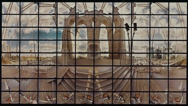 David McGlynn (American, born 1957). The Brooklyn Bridge Centennial 1883 - 1983, 1982. Chromogenic photograph Brooklyn Museum, Gift of Paula C. Kelly, 83.132. © David McGlynn