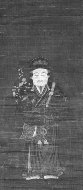 Tenjin in Chinese Costume, 15th century. Hanging scroll, ink and color on paper, 30 1/4 x 13 1/2 in. (76.8 x 34.3 cm). Brooklyn Museum, Gift of Dr. and Mrs. John P. Lyden, 83.168.14