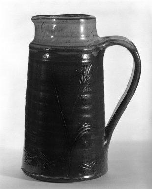Pitcher, ca. 1960. Stoneware, 8 7/8 x 5 in. (22.5 x 12.7 cm). Brooklyn Museum, Gift of Mr. and Mrs. Richard Sneider, 83.173.13. Creative Commons-BY