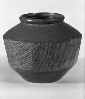 Shimaoka Tatsuzo (Japanese, 1919-2007). Jar, ca. 1960. Stoneware, 6 1/8 x 7 1/2 in. (15.6 x 19.1 cm). Brooklyn Museum, Gift of Mr. and Mrs. Richard Sneider, 83.173.6. Creative Commons-BY