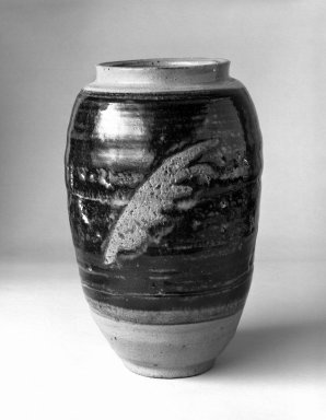 Takeda Toshio (Japanese, born 1932). Vase, ca. 1960. Stoneware, 8 1/4 x 4 1/2 in. (21 x 11.4 cm). Brooklyn Museum, Gift of Mr. and Mrs. Richard Sneider, 83.173.9. Creative Commons-BY