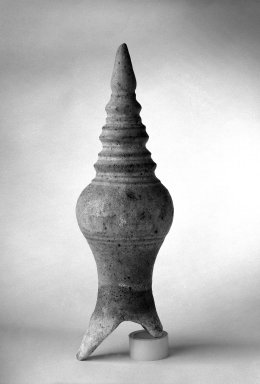 Sawankhalok Roof Finial, 14th century. Stoneware, 11 3/4 x 3 1/2 in. (29.8 x 8.9 cm). Brooklyn Museum, Gift of Dr. Joel Canter, 83.181.1. Creative Commons-BY