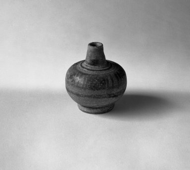 Sawankhalok Miniature Jar, 1 of 5, 14th century. Stoneware, H: 2 in. (5.1 cm). Brooklyn Museum, Gift of Dr. Joel Canter, 83.181.3. Creative Commons-BY