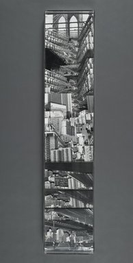 Karen Riedener (American, born 1946). Brooklyn Bridge, 1982. Gelatin silver print photocollage, 48 x 10 in. (121.9 x 25.4 cm). Brooklyn Museum, Gift of Bertha Urdang Gallery, 83.209. © Karen Riedener