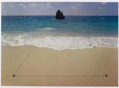 John Pfahl (American, born 1939). Triangle, Bermuda, 1975; Printed 1981. Dye-transfer print, Sheet: 8 1/2 x 11 in. (21.6 x 27.9 cm). Brooklyn Museum, Gift of Ed Perlberg, 83.218.1. © John Pfahl