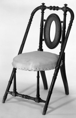 George Jacob Hunzinger (American, born Germany, 1835-1898). Armchair, ca. 1869. Walnut, 33 1/4 x 18 3/4 x 20 3/8 in. (84.5 x 47.6 x 51.8 cm). Brooklyn Museum, Gift of James Pilgrim, 83.226. Creative Commons-BY