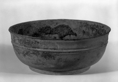 Bowl, 1st-2nd century C.E. Bronze, 3 1/2 x 8 5/8 in. (8.9 x 21.9 cm). Brooklyn Museum, Gift of Dr. Myron Arlen, 83.230.1. Creative Commons-BY
