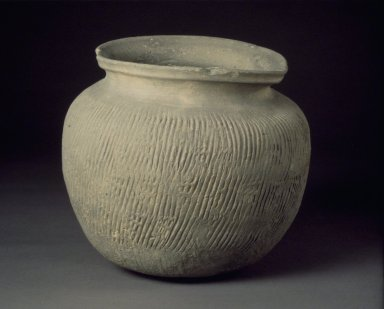 Jar, 5th century. Stoneware, Height: 6 1/2 in. (16.5 cm). Brooklyn Museum, Gift of Dr. and Mrs. John P. Lyden, 83.241.6. Creative Commons-BY