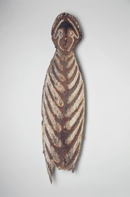 Ancestral Board (Gope). Wood, pigment, 53 1/2 x 14 1/2 in. (135.9 x 36.8 cm). Brooklyn Museum, Gift of Marcia and John Friede and Mrs. Melville W. Hall, 83.246.2. Creative Commons-BY
