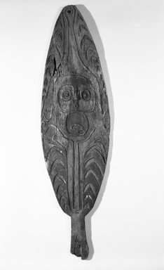 Spirit Board (Gope). Wood, pigment, 46 1/2 x 12 3/4 in. (118.1 x 32.4 cm). Brooklyn Museum, Gift of Marcia and John Friede and Mrs. Melville W. Hall, 83.246.5. Creative Commons-BY