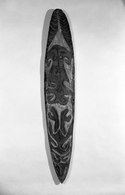 Spirit Board (Gope). Wood, pigment, 53 1/4 x 9 3/4 in. (135.3 x 24.8 cm). Brooklyn Museum, Gift of Marcia and John Friede and Mrs. Melville W. Hall, 83.246.6. Creative Commons-BY