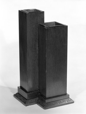 Minic Custom Woodwork and Interiors. Double Vase, Designed 1953, Manufactured 1954. Mahogany, 19 1/2 x 13 7/8 x 10 1/4 in. (49.5 x 35.2 x 26 cm). Brooklyn Museum, Gift of Minic Custom Woodwork & Interiors, 83.25.4. Creative Commons-BY