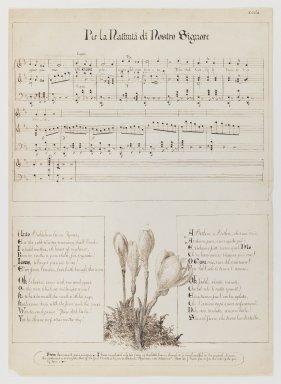 Esther Frances (Francesca) Alexander (American, 1837-1917). Per la Nativita di Nostro Signore, 1868-1882. Pen and ink on paper, Sheet: 15 1/8 x 10 15/16 in. (38.4 x 27.8 cm). Brooklyn Museum, Dick S. Ramsay Fund, 83.33.2