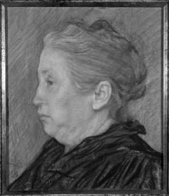 Théo van Rysselberghe (Belgian, 1862-1926). Portrait of Madame Monnom, ca. 1890. Pastel on paper, 13 3/4 x 11 7/8 in. Brooklyn Museum, Purchased with funds given by William K. Jacobs, Jr., 83.70.2