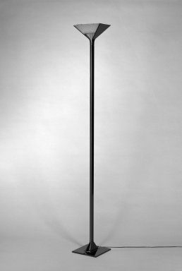 """Tobia Scarpa (Italian). """"Papillona"""" Floor Lamp, design 1977 - manufactured 1983 - 1984. Die-cast aluminum, plastic, and glass, 75 1/2 x 9 3/4 x 9 3/4 in. (191.8 x 24.8 x 24.8 cm). Brooklyn Museum, Gift of Atelier International, Ltd., 84.119. Creative Commons-BY"""