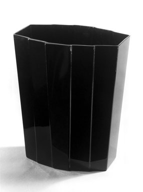 George Sakier (American, 1897-1988). Vase, ca. 1930. Black glass, 8 1/8 x 6 3/4 x 4 1/16 in. (20.6 x 17.1 x 10.3 cm). Brooklyn Museum, Gift of Paul F. Walter, 84.124.1. Creative Commons-BY