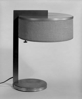 Kurt Versen (American, born Germany, 1901-1997). Table Lamp, ca. 1930. Chromed and copper-plated metal, aluminum, fabric, Overall: 14 x 11 x 10 in. (35.6 x 27.9 x 25.4 cm). Brooklyn Museum, Purchased with funds given by The Walter Foundation, 84.125. Creative Commons-BY