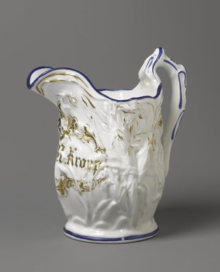 F. K. M. Kropp. Pitcher, 1850-1861. Porcelain, 10 1/4 x 9 1/2 x 6 1/4 in. (26 x 24.1 x 15.9 cm). Brooklyn Museum, H. Randolph Lever Fund, 84.127. Creative Commons-BY