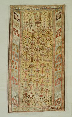 Prayer Rug, 19th century. Wool, 61 1/4 x 33 3/4 in. (155.6 x 85.7 cm). Brooklyn Museum, Bequest of Mrs. Joseph V. McMullan, gift of the Beaupre Charitable Trust in memory of Joseph V. McMullan, 84.140.11. Creative Commons-BY