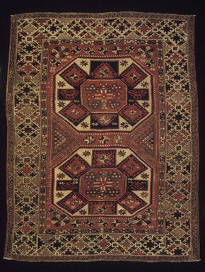 Bergama Type Carpet, late 19th century. Wool, 76 1/2 x 60 in. (194.3 x 152.4 cm). Brooklyn Museum, Bequest of Mrs. Joseph V. McMullan, gift of the Beaupre Charitable Trust in memory of Joseph V. McMullan, 84.140.3. Creative Commons-BY