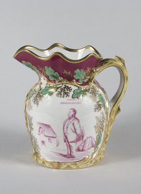 Pitcher, ca. 1850-1860. Porcelain, 9 1/2 x 9 3/4 x 6 1/2 in. (24.1 x 24.8 x 16.5 cm). Brooklyn Museum, Gift of Mr. and Mrs. Jay Lewis, 84.176.2. Creative Commons-BY