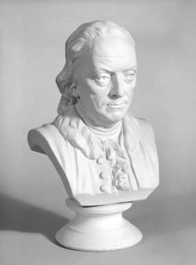 Ott and Brewer (1871-1893). Bust of Benjamin Franklin, ca. 1876. Parian porcelain, 10 x 5 x 4 in. (25.4 x 12.7 x 10.2 cm). Brooklyn Museum, Gift of Mr. and Mrs. Jay Lewis, 84.176.3. Creative Commons-BY