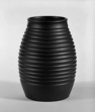 Keith Murray (English, born New Zealand, 1892-1981). Vase, ca. 1933-1936. Basalt ware, 5 1/2 x 3 in. (14 x 7.6 cm). Brooklyn Museum, Gift of Paul F. Walter, 84.178.4. Creative Commons-BY