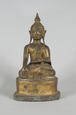 Seated Buddha, 18th century. Gilt bronze, 6 3/4 x 3 3/4 in. (17.1 x 9.5 cm). Brooklyn Museum, Gift of Dr. Harvey Lederman, 84.194.25. Creative Commons-BY