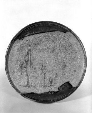 Seto Ware Oil Plate, 19th century. Buff stoneware, 1 1/4 x 8 1/2 in. (3.2 x 21.6 cm). Brooklyn Museum, Gift of Dr. and Mrs. John P. Lyden, 84.196.13. Creative Commons-BY