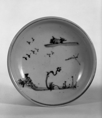 Brooklyn Museum: Shoki Imari Blue-and-White Dish